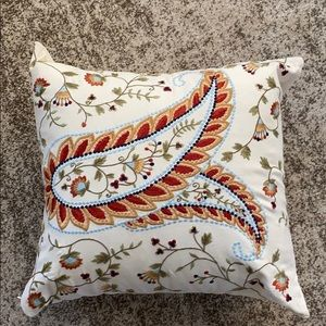 Pottery Barn Outlet Embroidered Accent Pillow